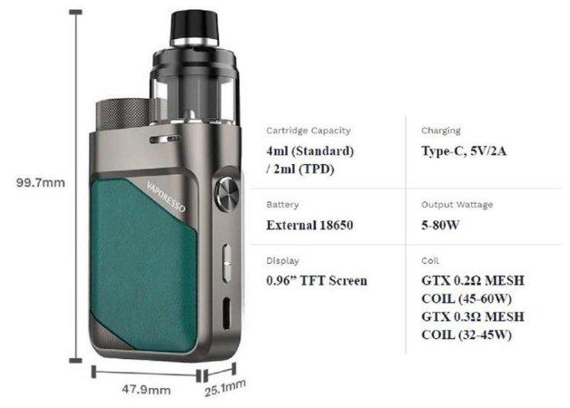 Vaporesso SWAG PX 80 [SigarettaElettronicaForum.com]